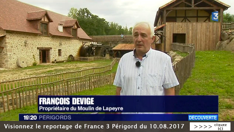 FRANCE 3 PERIGORD - MOULIN DE LAPEYRE